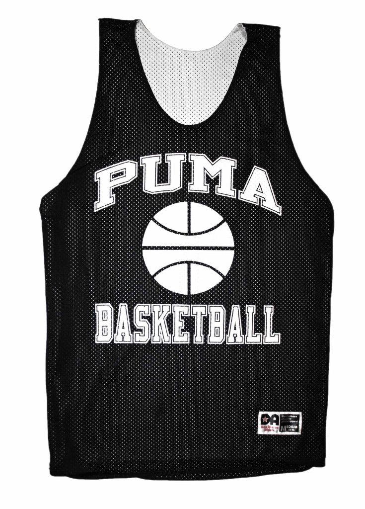 Vintage 90s Puma Basketball Jersey in Black Mens Size Medium ...