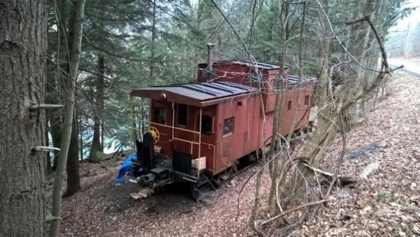 Caboose Cabin In Upstate New York Cabin Caboose