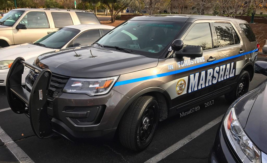 Tombstone marshalls office police cars police truck