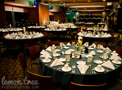 Green Bay Packers Wedding centerpiece and table setting   Wedding ...