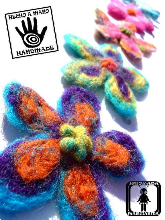 Horquillas de fieltro artesanal 100% lana merina