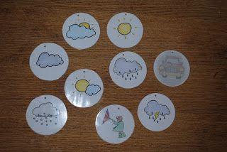 Meisjes: Klaskalender de weersymbooltjes