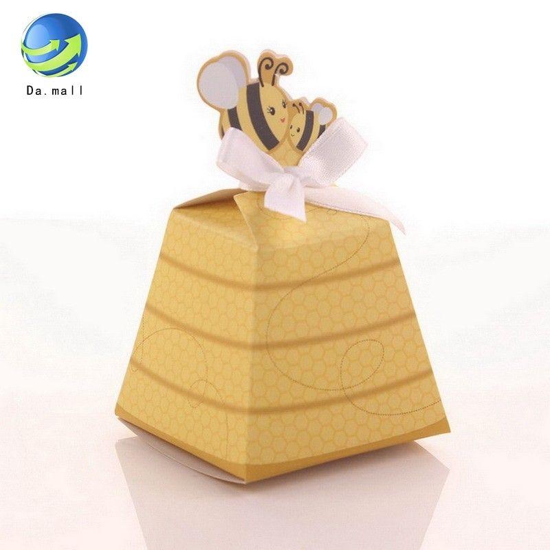 40pcs sugar boxes kit creative bee shaped mini wedding