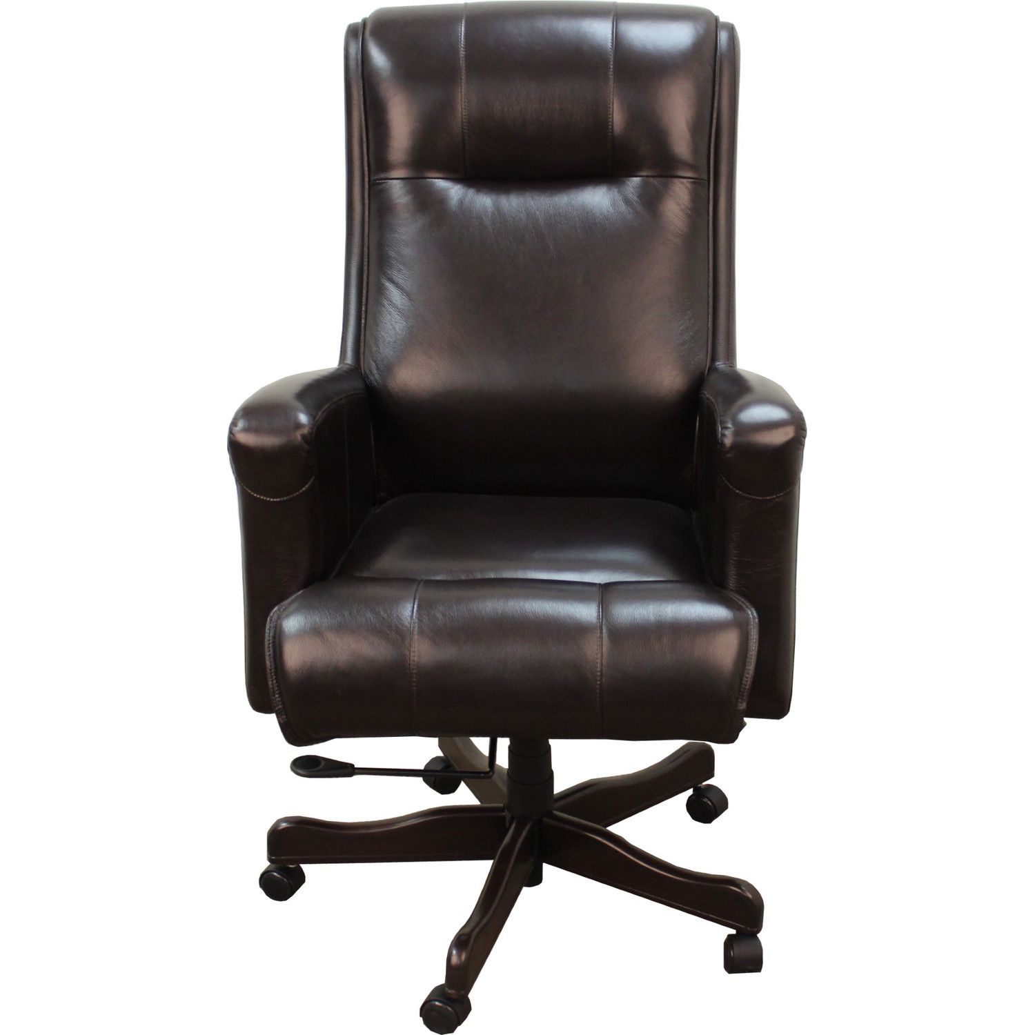 Lsu Leather Office Chair