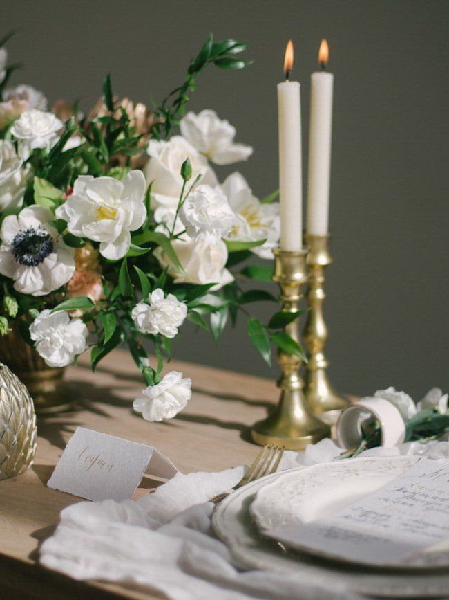 table decor featured on Trendy Bride trendybride Tablescapes