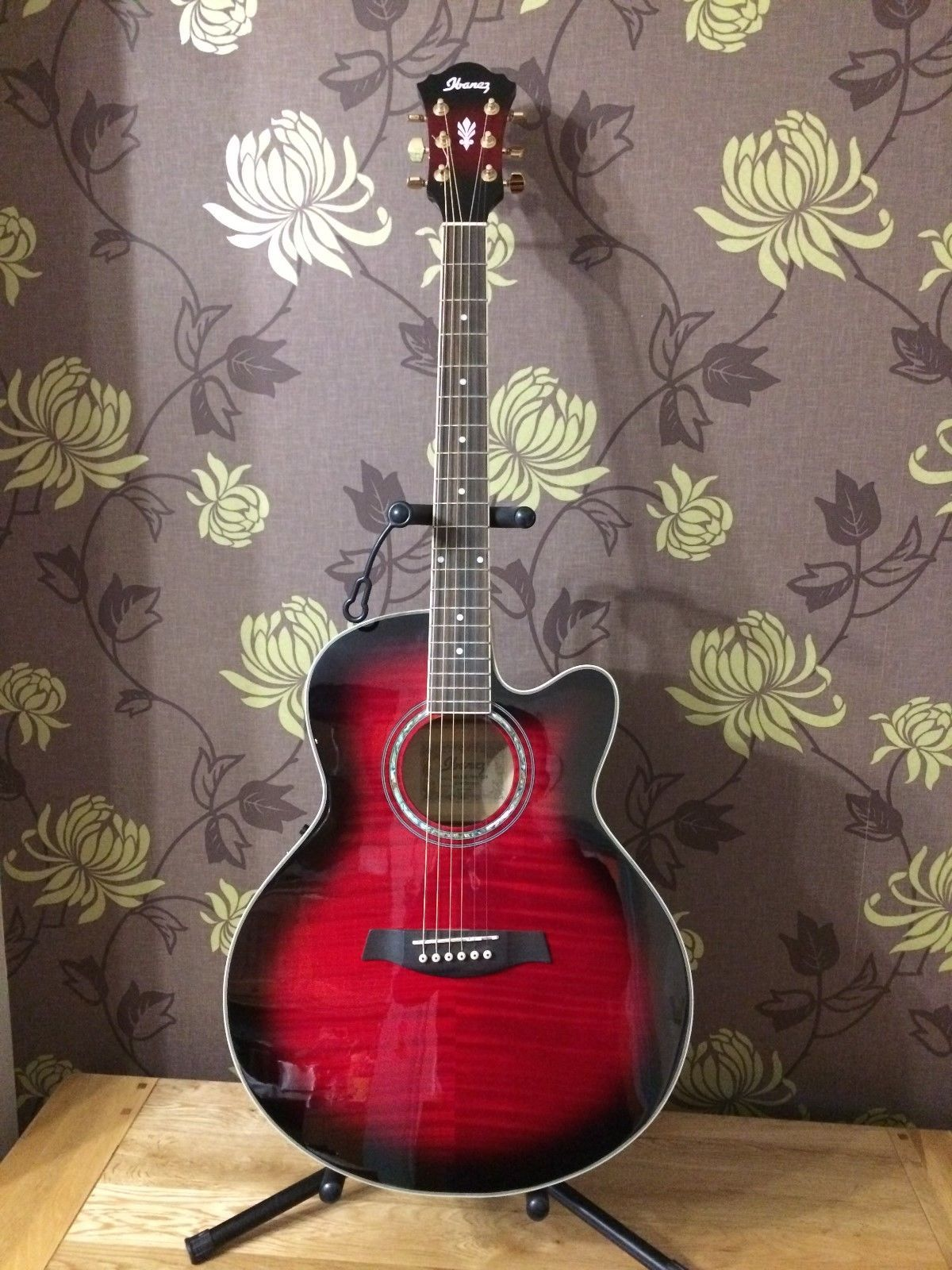 Ibanez AEL20E-TRS1203 Electro Acoustic Guitar, Transparent Red Sunburst -  Used