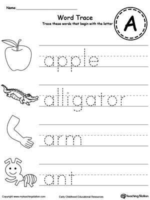 letter a phonics worksheet trace words that begin with letter sound a phonics 17679 | 332f77a58aaa2131e1b8108841ac45fa