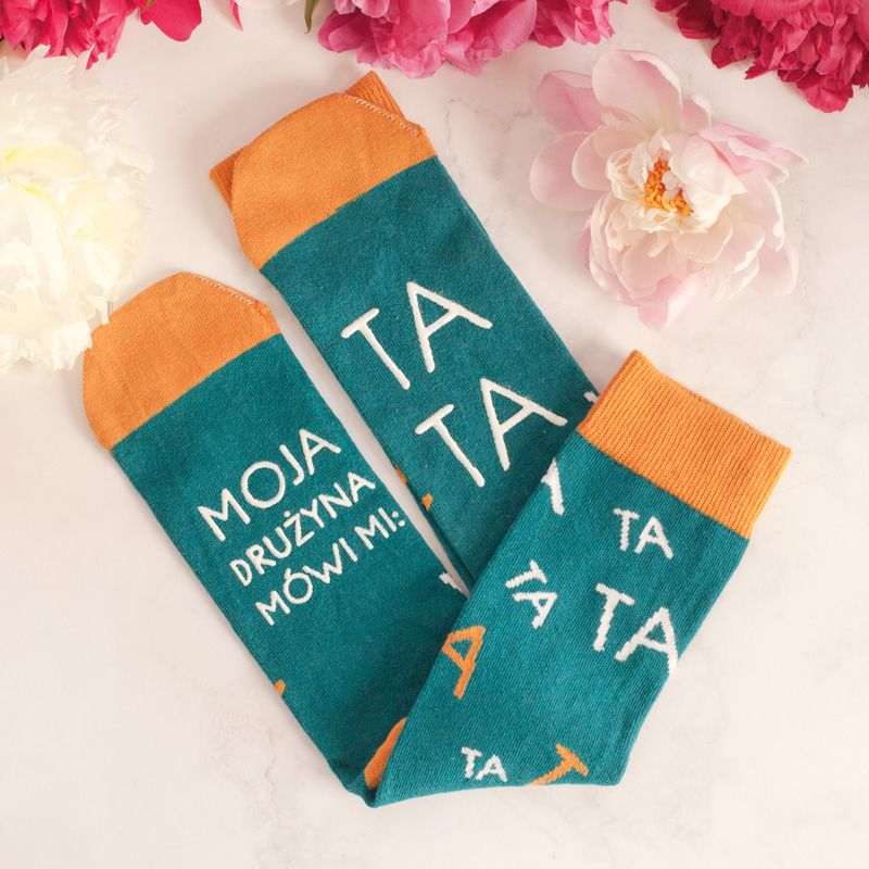 Skarpetki Z Dedykacja Moja Druzyna Mowi Mi Tata Christmas Stockings Holiday Decor Holiday