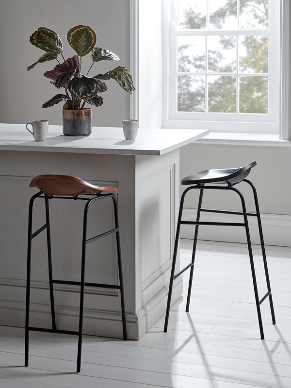 Workers' Stool - Black | Stool, Countryside kitchen, High ...