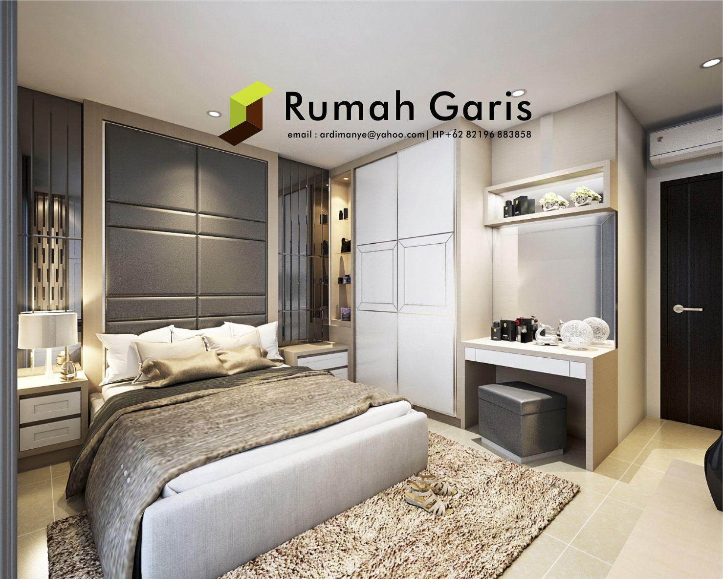 Desain Interior Kamar Tidur Master Bedroom Apartemen Jasarender  # Muebles Andre Kevin