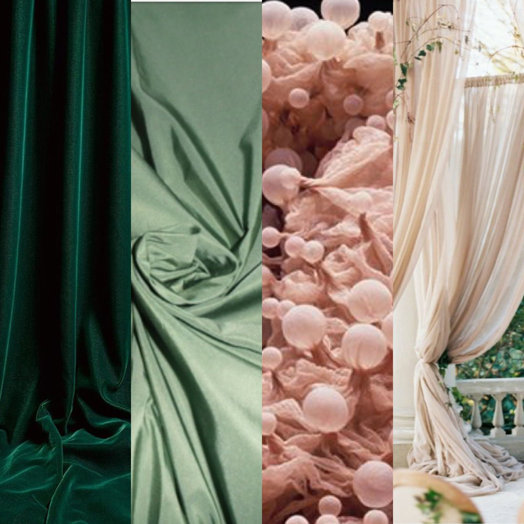 Colour Crush Emerald Green With Pink: Colour Scheme Emerald Green, Sage Green, Blush Pink