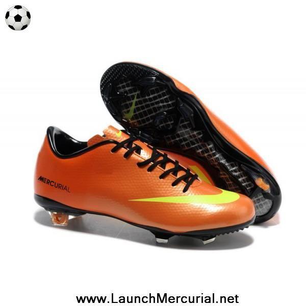 Orange Yellow Black Nike Mercurial Vapor IX FG Soccer Cleats