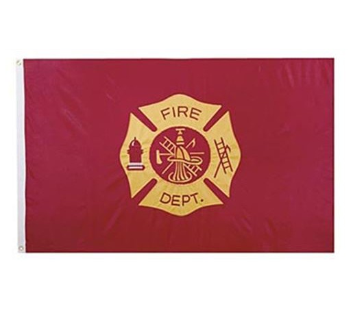 Fire Dept Maltese Cross Embroidered 3 X 5 Flag Firefighter Gifts Firefighter Home Decor Outdoor Gifts