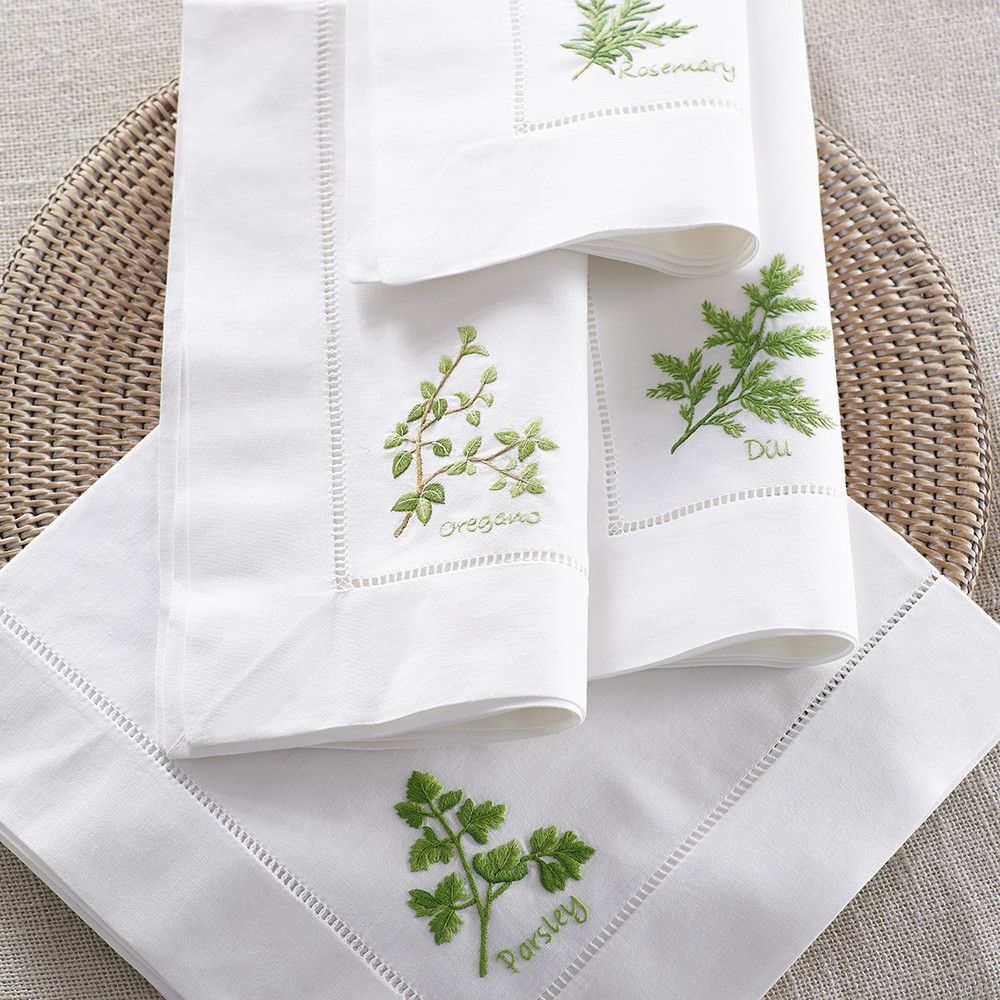 From the Garden Napkins – Herbs | Bordados | Pinterest | Bordado ...