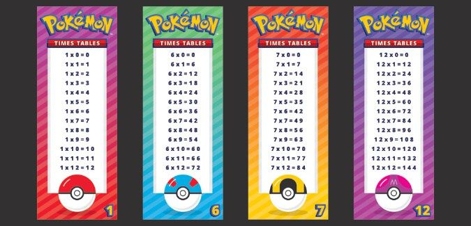 Pokemon Times Tables Pokemon Pokemon Teaching Times Tables
