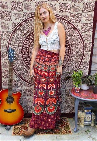Fairtrade Floral Hippy Wrap Skirt