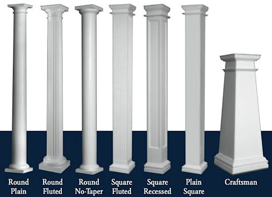 Outside columns pillars identify such a pillar some for Fiberglass architectural columns