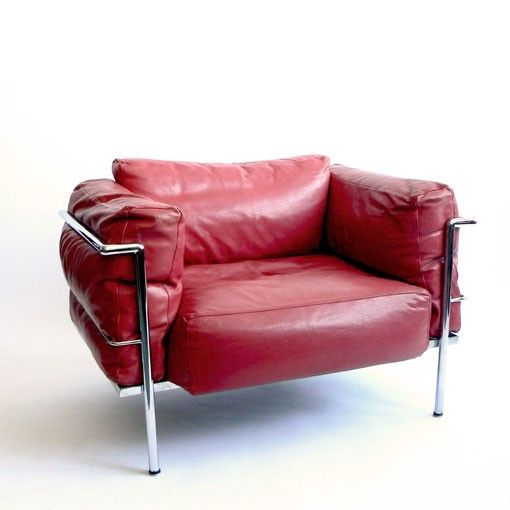 Le Corbusier Grand Confort Lc3 Lawton Mull International Style Red Chair