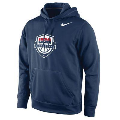 Men's Team USA Basketball Nike Navy Logo Pullover Hoodie