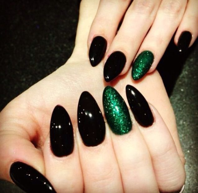 Fall nails More | Punk nails, Green nails, Cute nails