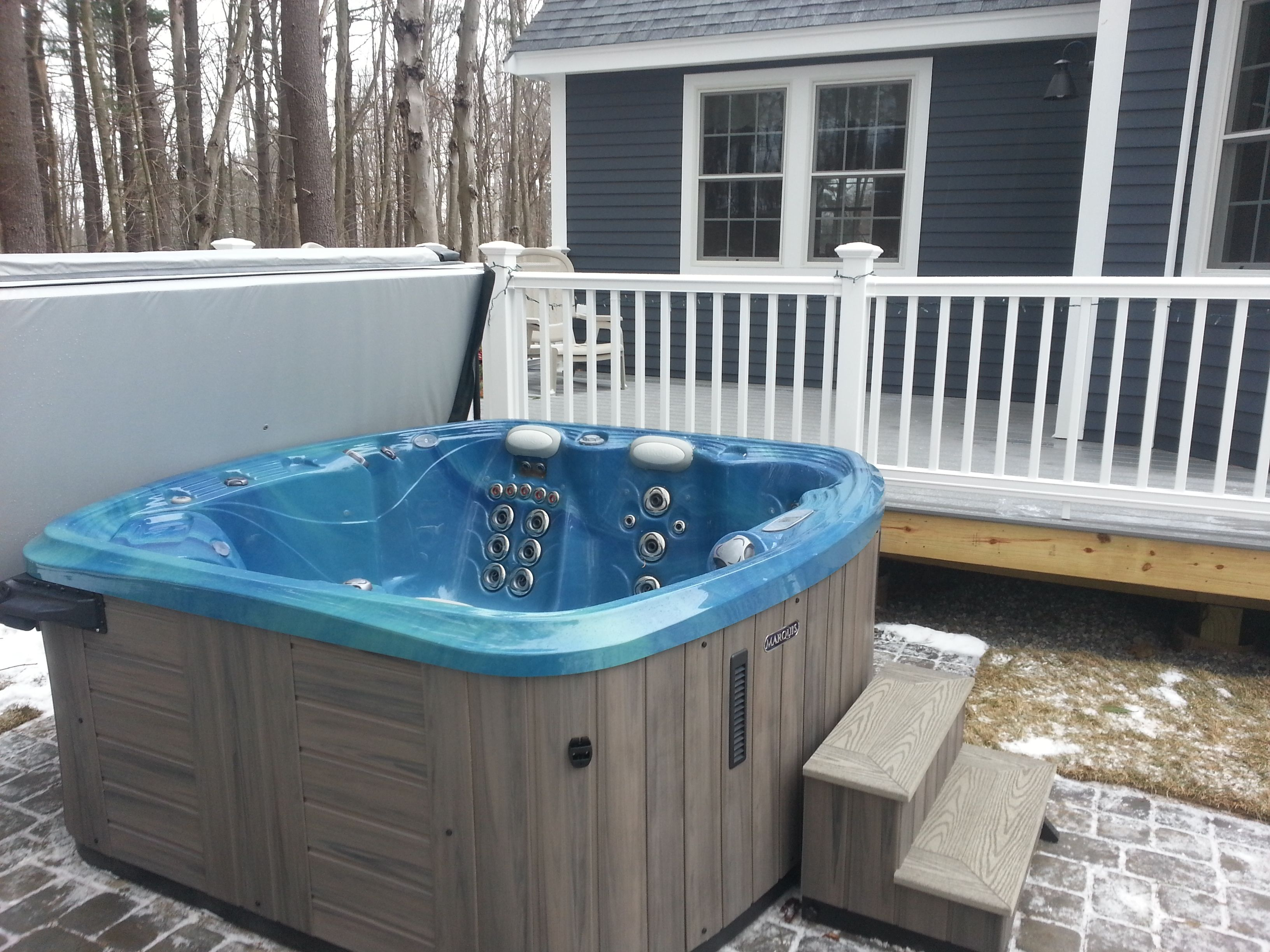 What Type Of Base Do You Need For A Hot Tub Spa Installation Hot Tub Hot Tub Backyard Spa Hot Tubs