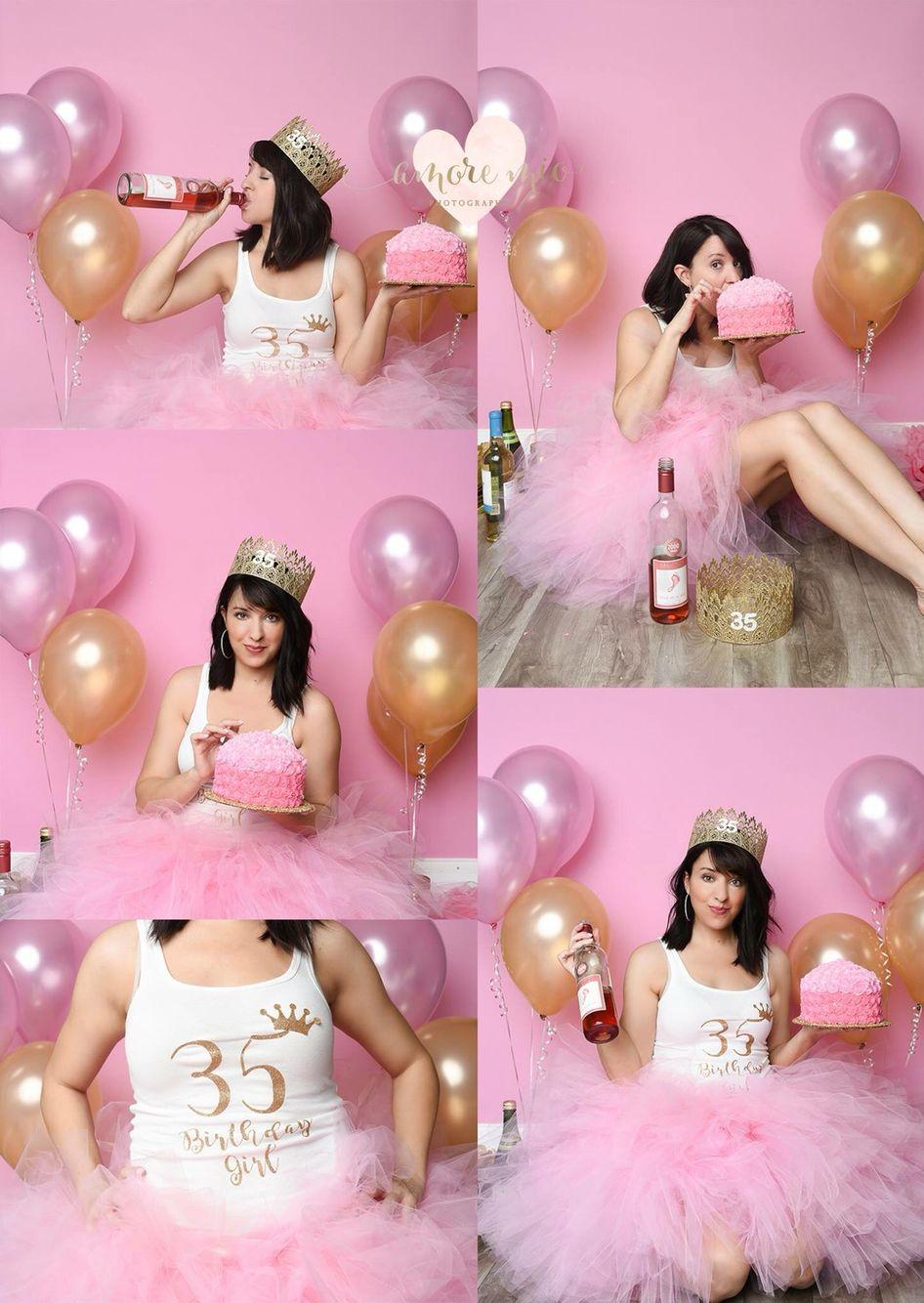 Fun Adult cake smash (With images) Birthday photoshoot