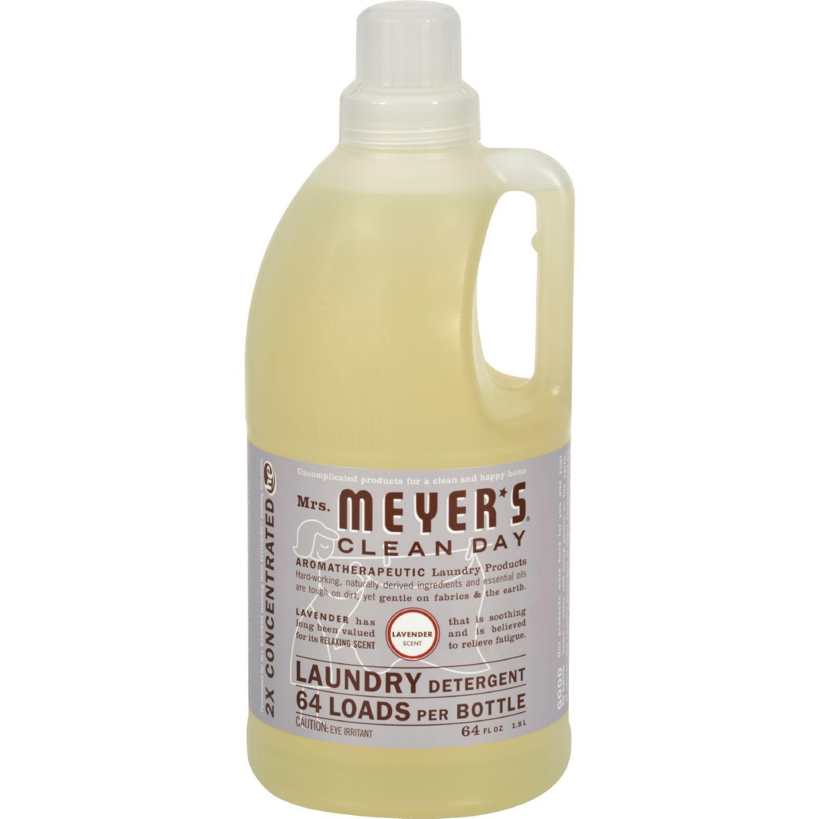 Mrs Meyer S 2x Laundry Detergent Lavender 64 Oz Laundry Detergent Cleaning Day Natural Laundry Detergent