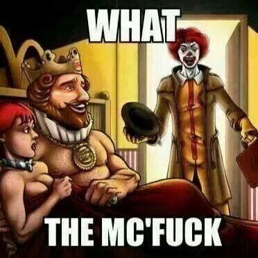 33303dde26f0e98ba0d043ccf589a3de funny meme mcdonalds wendys burger king (cluster fuck) funny