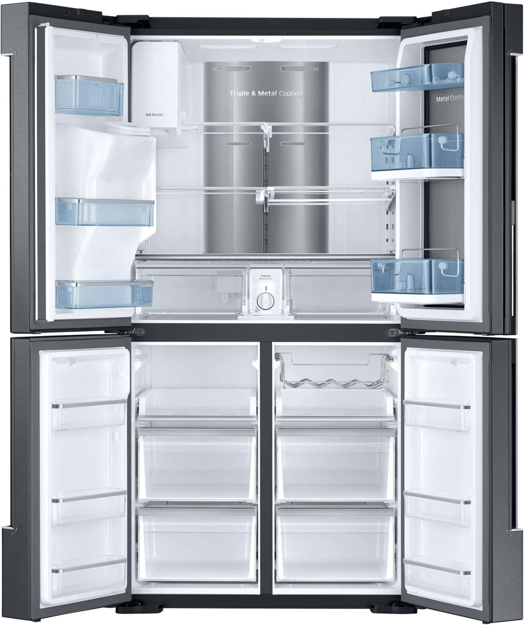 Samsung RF28K9380SG 36 Inch French Door Refrigerator With 28 Cu. Ft.  Capacity, 4