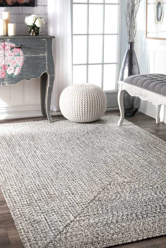 Kulpmont Hand Braided Gray Area Rug For The Home