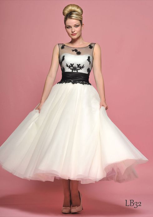 Loulou Bridal~1950s Inspired Wedding Dresses Nice use of a bit of colour... Would like different colour lace....