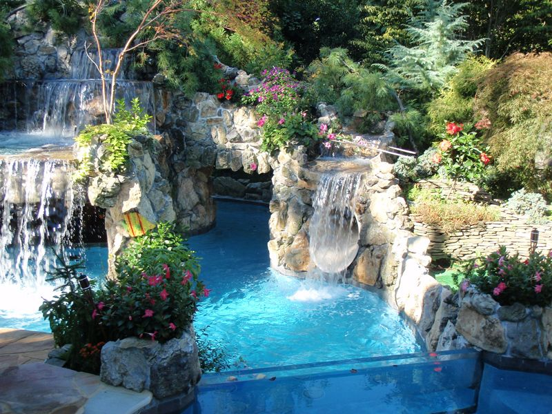 beautiful pool with landscape beautiful pool landscapes pinterest beautiful pools. Black Bedroom Furniture Sets. Home Design Ideas