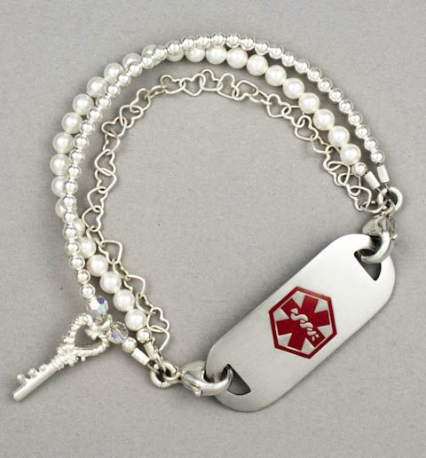Paris Medical Id Bracelet I Soooo Want This It S Cute And Fashionable But Still A Warning In Case Something Hens
