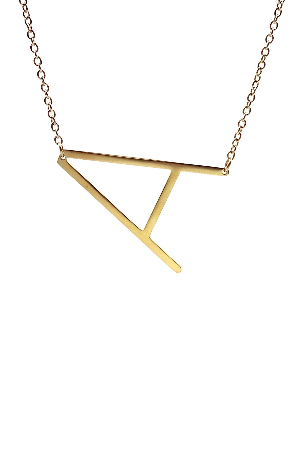 Savvy Cie | 14K Gold Plated XL Initial Necklace -