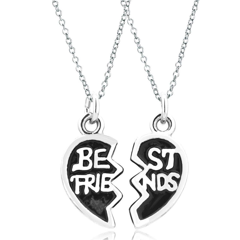2 pcs shape best friends fit necklace charms