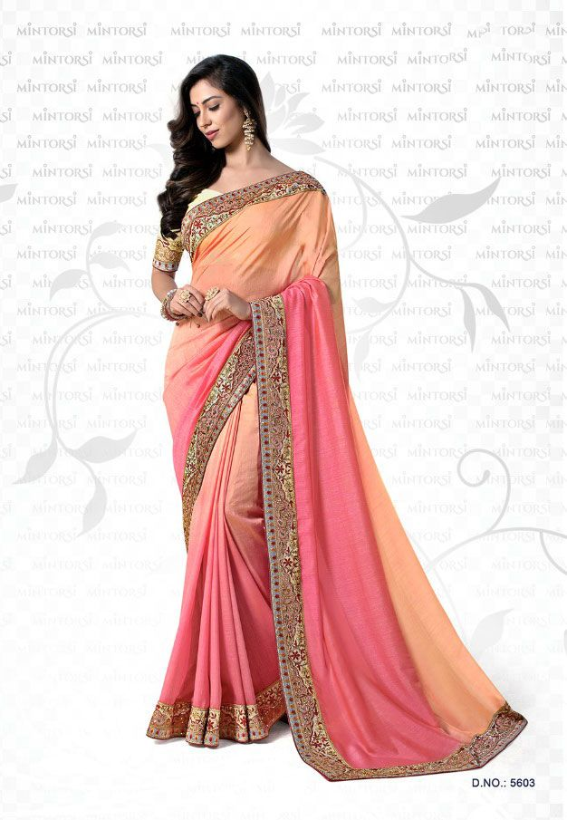 ae79859a6f1fa6 Ambika Sarees Collection Embroidered Multi Colour Georgette Saree With  Blouse Material