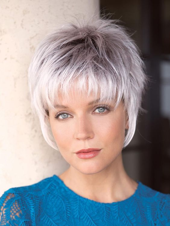 Noriko Billie Synthetic Wig, CREAMYTOFFEER Silver