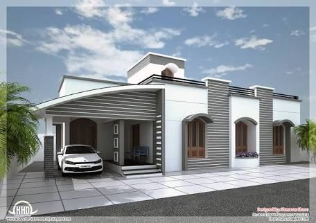 Parking Roof Design In Single Floor Kerala House Google Search