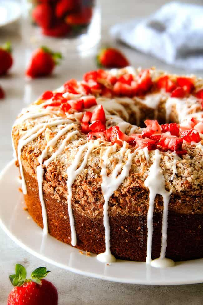 Cream Cheese Coffee Cake (with strawberries!)