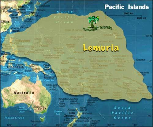 The continent of LeMURia occupied a great