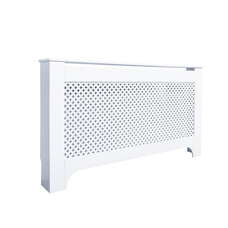 Richmond Large White Painted Radiator Cover Diy At B Q White