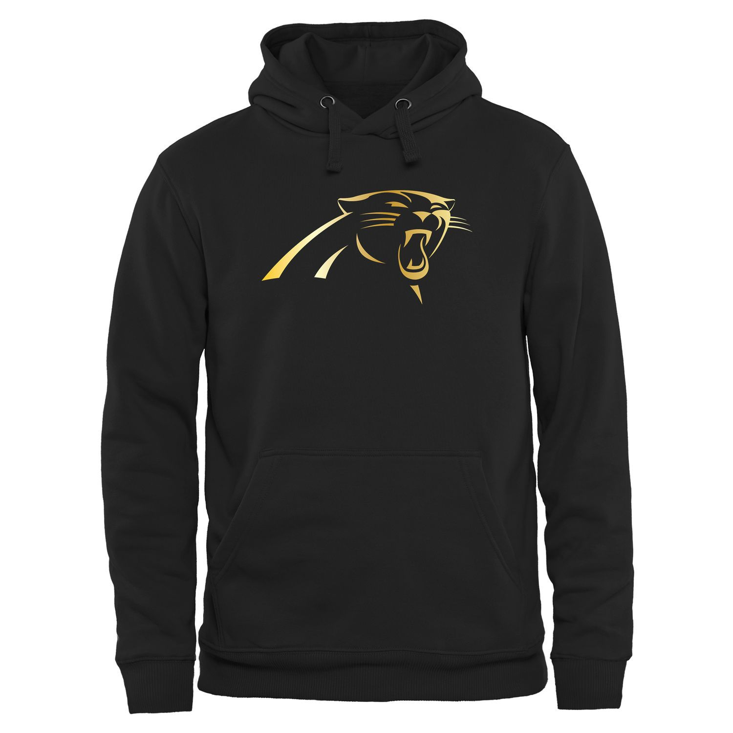 quality design 0b5b0 1f73d Carolina Panthers Pro Line Black Gold Collection Pullover ...