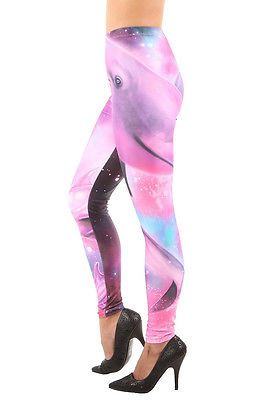 #IRONFIST DOLPHINOGRAPHY LEGGINGS PINK & MULTI-COLORED FANTASY ALL OVER PRINT