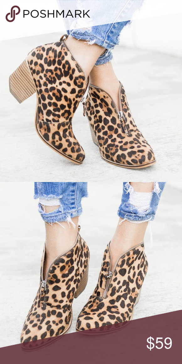 53685cffe807 🆕Suri Leopard Print Booties These leopard print ankle booties will  outshine any others! They