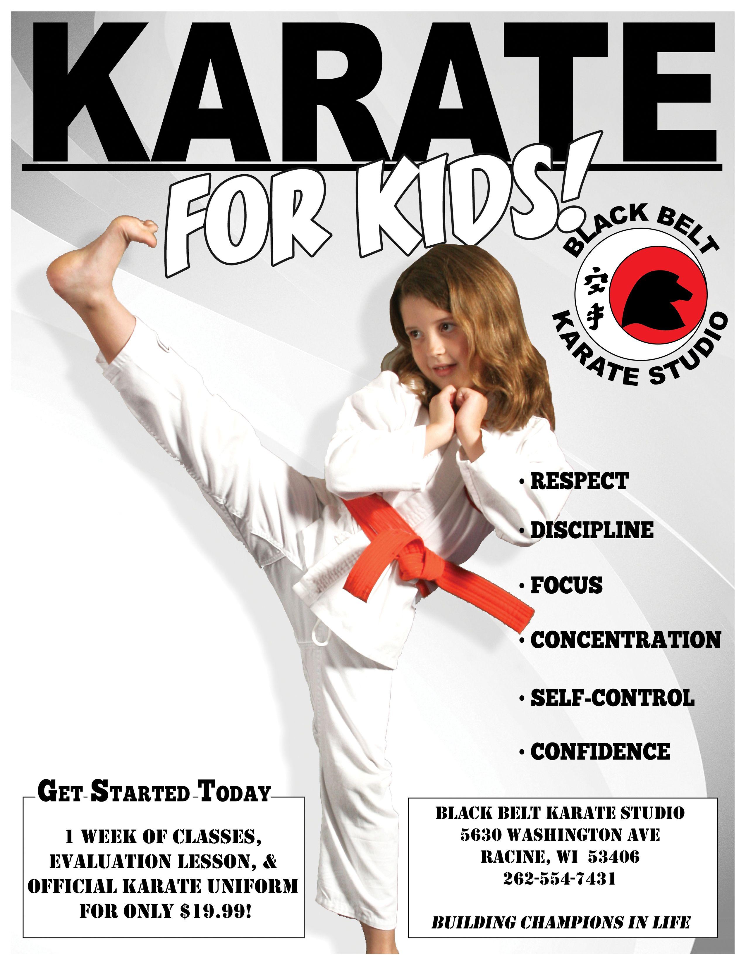 Black belt karate martial