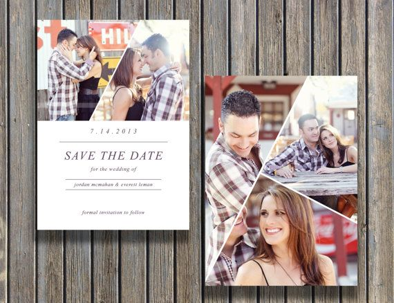 Vintage Save the Date Template (PSD) - INSTANT DOWNLOAD by - save the date template