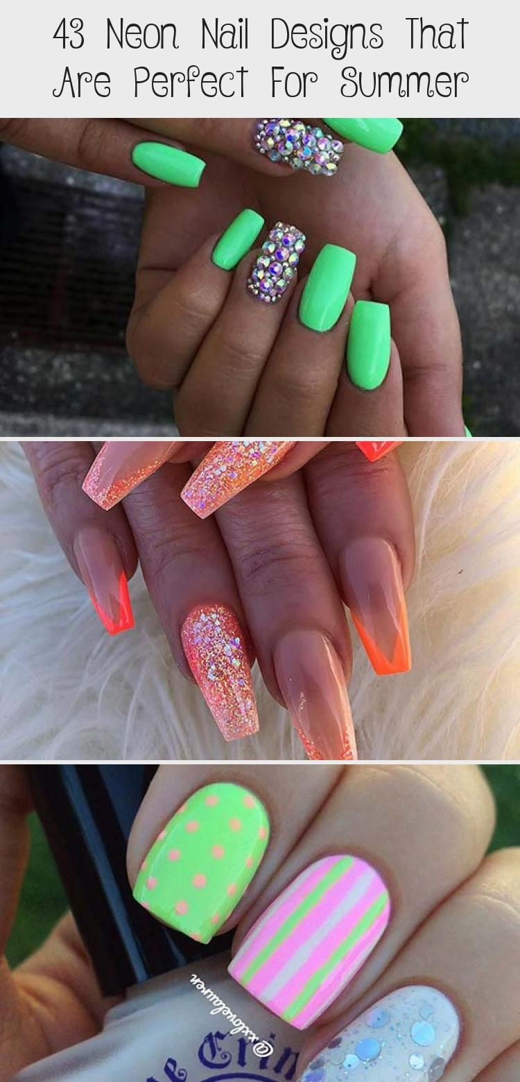 Photo of 43 Neon Nail Designs That Are Perfect For Summer – Nail Art