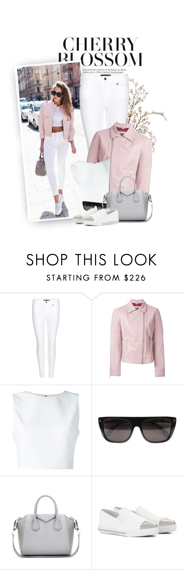 """""""Cherry Blossom Street Style"""" by hollowpoint-smile ❤ liked on Polyvore featuring True Religion, Dolce&Gabbana, Alice + Olivia, Givenchy and Miu Miu"""