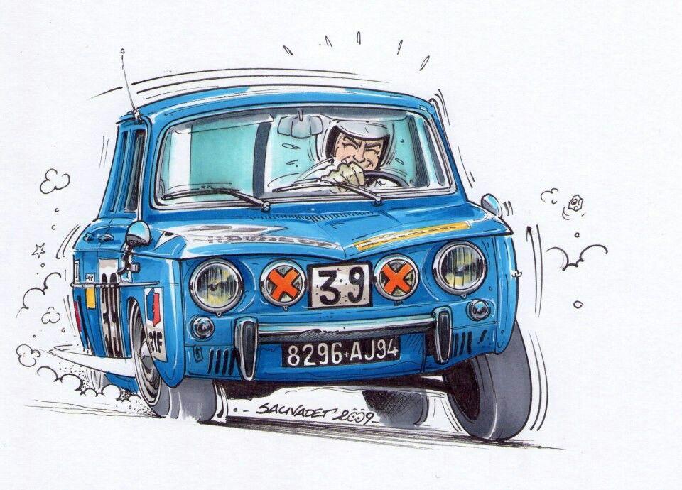 Renault 8 gordini renault gordini pinterest voiture voiture francaise et voiture de rallye - Dessin renault ...