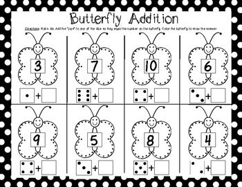 math worksheet : kindergarten end of the year math games fluttering off to first  : Math Game For Kindergarten